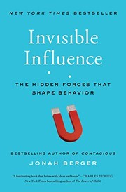 Cover of: Invisible Influence | Jonah Berger