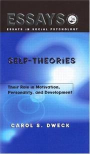 Cover of: Self-theories