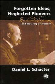 Cover of: Forgotten ideas, neglected pioneers