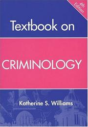 Cover of: Textbook on Criminology