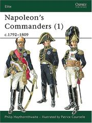 Cover of: Napoleon's Commanders (1): c.1792-1809