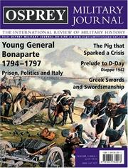 Cover of: Osprey Military Journal Issue 3/1 | Marcus Cowper