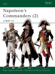 Cover of: Napoleon's Commanders (2): c.1809-15