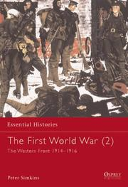 Cover of: The First World War (2): The Western Front 1914-1916 (Essential Histories)