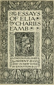 The Essays of Elia by Charles Lamb