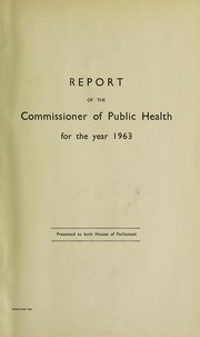 Cover of: Report of the Commissioner of Public Health | Western Australia. Public Health Department