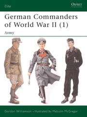 Cover of: German Commanders of World War II (1): Army