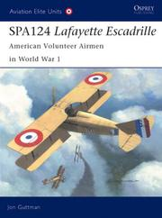 Cover of: SPA124 Lafayette Escadrille | Jon Guttman