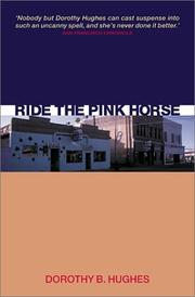 Cover of: Ride the Pink Horse (Canongate Crime)