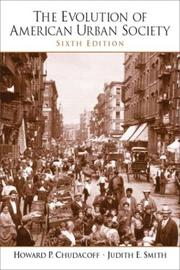 Cover of: Evolution of American Urban Society, The (6th Edition) | Howard P. Chudacoff