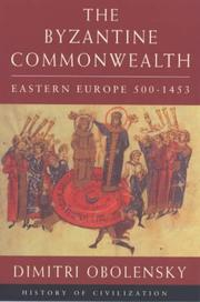 Cover of: The Byzantine commonwealth