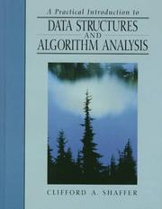 Cover of: Practical Introduction to Data Structures and Algorithm Analysis