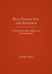 Cover of: Real Estate Law and Business