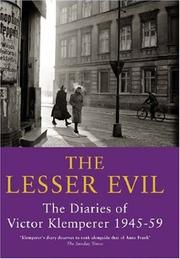 Cover of: The Lesser Evil