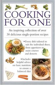 Cover of: Cooking for One (Cook