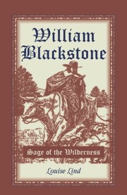 Cover of: William Blackstone | Louise Lind