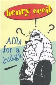 Cover of: Alibi for a Judge