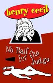 Cover of: No Bail for the Judge