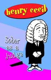 Cover of: Sober as a judge