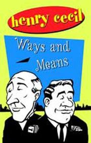 Cover of: Ways and means