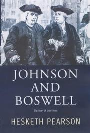 Cover of: Johnson and Boswell: the story of their lives.
