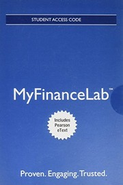 Cover of: Mylab Finance with Pearson Etext -- Access Card -- For Foundations of Finance