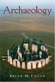 Cover of: Archaeology: a brief introduction