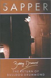 Cover of: The return of Bulldog Drummond