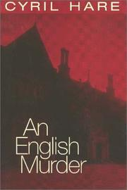 Cover of: An English murder