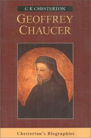 Cover of: Chaucer (Chesterton