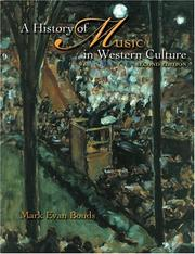 Cover of: A History of Music in Western Culture: combined volume