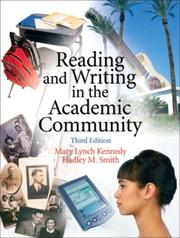 Cover of: Reading and writing in the academic community
