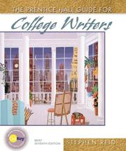 Cover of: Prentice Hall guide for college writers | Stephen Reid