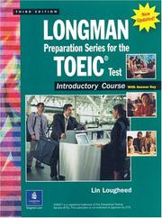 Cover of: Longman Preparation Series for the TOEIC(R) Test, Introductory Course (Updated Edition), with Answer Key and Tapescript (3rd Edition) (Longman Preparation)
