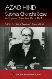Cover of: Azad Hind:Subhas Chandra Bose |