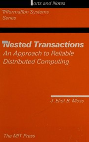 Cover of: Nested transactions | J. Eliot B. Moss