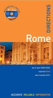 Cover of: The Rough Guides' Rome Directions 1