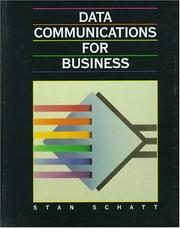 Cover of: Data communications for business