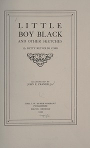 Cover of: Little Boy Black | Betty Reynolds Cobb