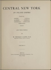 Cover of: Central New York, an island empire | Galpin, William Freeman