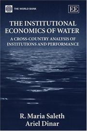 The institutional economics of water by R. Maria Saleth