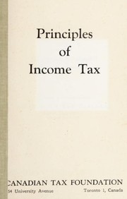 Cover of: Principles of income tax | H. David McGurran