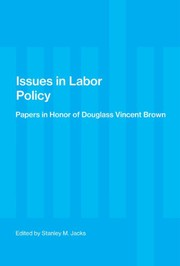 Cover of: Issues in Labor Policy | Stanley M. Jacks
