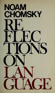 Cover of: Reflections on language