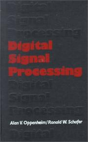 Cover of: Digital signal processing