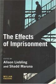 Cover of: The Effects of Imprisonment (Cambridge Criminal Justice) |