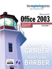 Cover of: Exploring Microsoft Office 2003 , Volume 1 (2nd Edition) (Exploring)