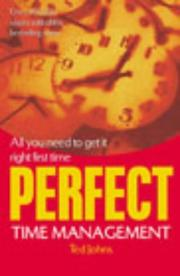 Cover of: Perfect Time Management | Ted Johns