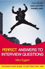 Cover of: Perfect Answers to Interview Questions (Perfect) | Max Eggert