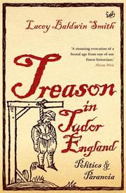 Cover of: Treason in Tudor England